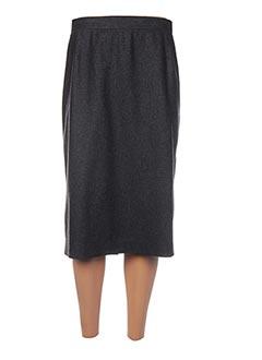 Jupe mi-longue gris BERNARD ZINS pour femme