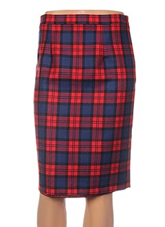 Jupe mi-longue rouge BERNARD ZINS pour femme
