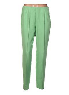 Pantalon chic vert BERNARD ZINS pour femme