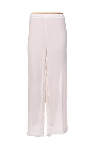 Pantalon casual blanc ELIE BONNIE pour femme