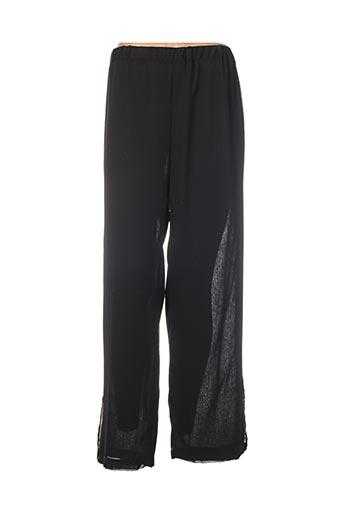 Pantalon casual noir ELIE BONNIE pour femme