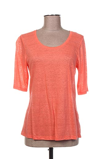 T-shirt manches courtes orange ET SI.... pour femme