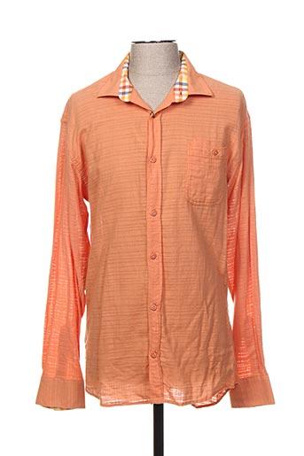 Chemise manches longues orange ENVY pour homme