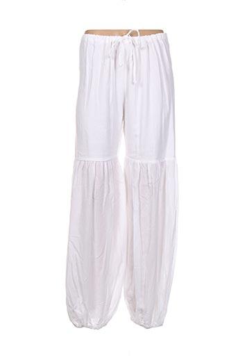 Pantalon casual blanc FILIGRANE pour femme