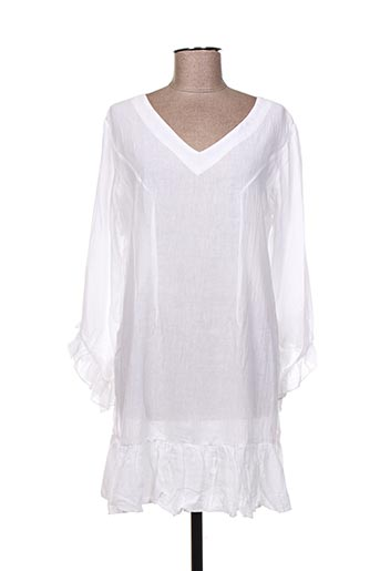 Robe courte blanc FILIGRANE pour femme