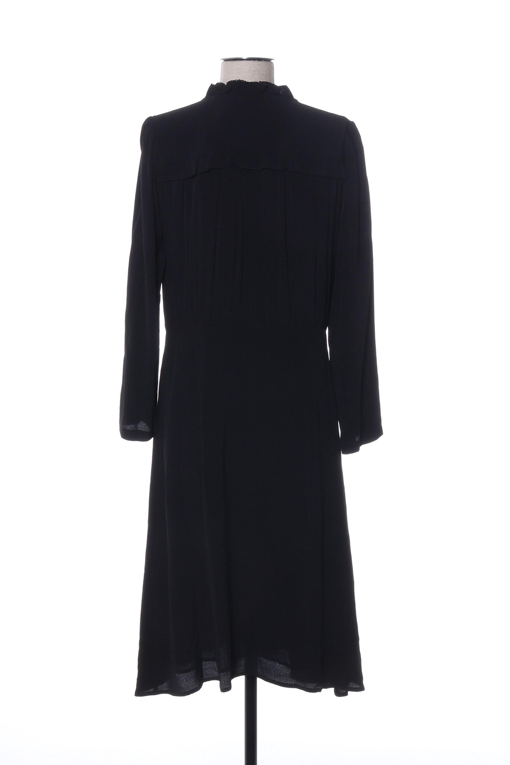 See U Soon Robes Mi Longues Femme De Couleur Noir En Soldes Pas Cher 1419187-noir00