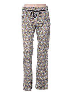 Pantalon casual jaune NEW LINE pour femme