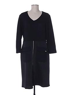 Robe mi-longue noir DIVAS pour femme