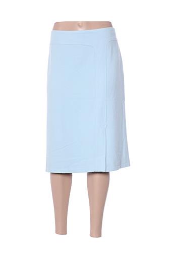 Jupe mi-longue bleu HAUBER pour femme