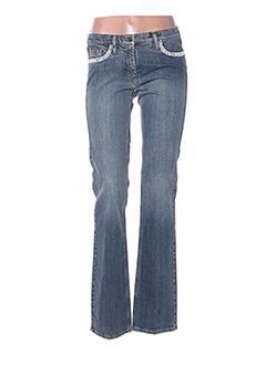 Jeans coupe droite bleu LUISA CERANO pour femme