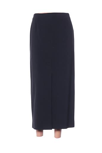 Jupe mi-longue noir HAUBER pour femme