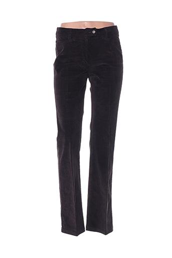 Pantalon chic marron HAUBER pour femme