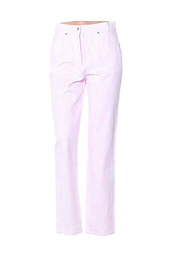 Pantalon casual rose HAUBER pour femme