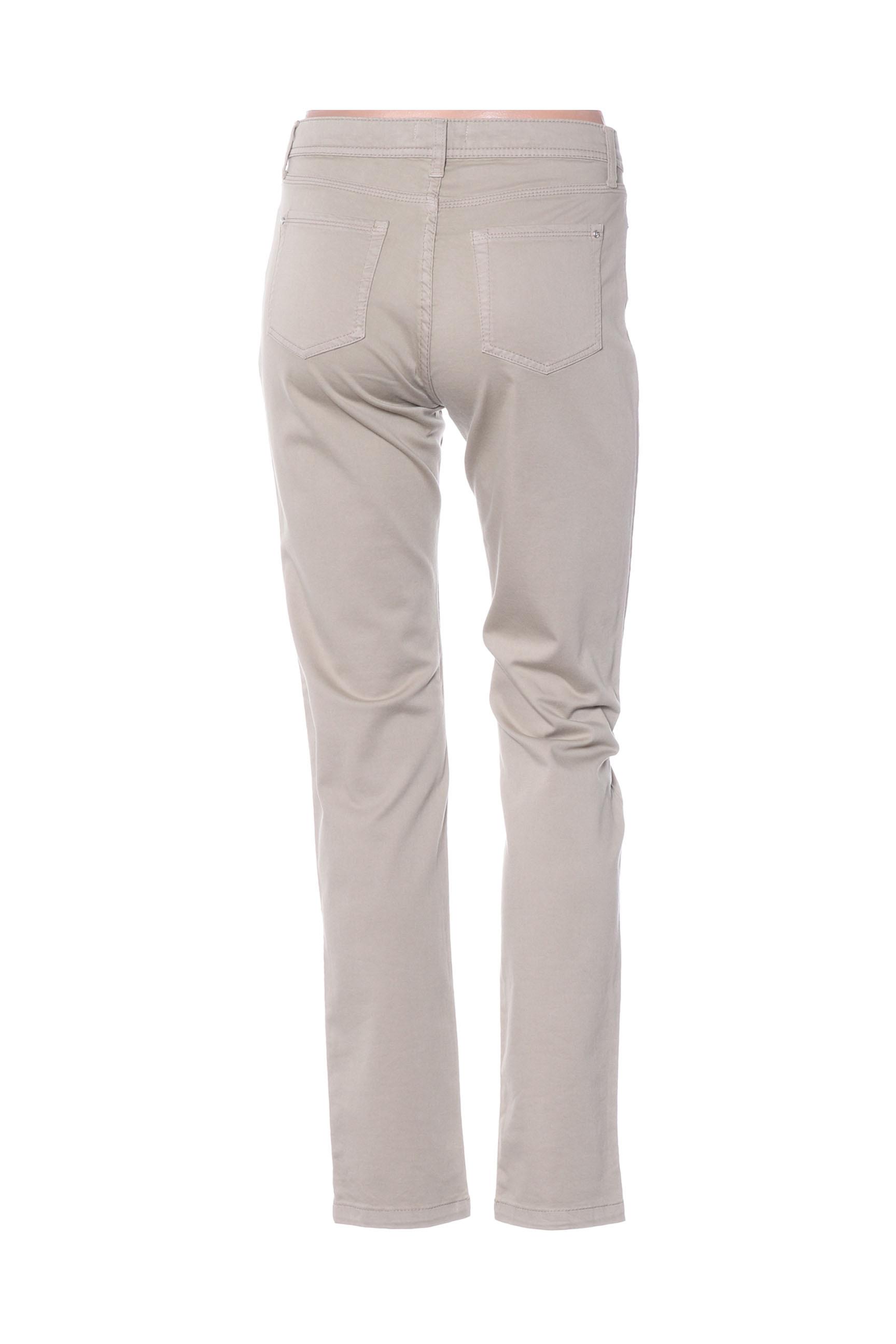 Fuego Woman Pantalons Decontractes Femme De Couleur Beige En Soldes Pas Cher 1415320-beige0