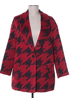 Manteau court rouge SCHOOL RAG pour femme