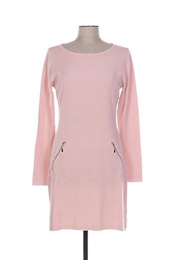 Robe courte rose DAMOD pour femme