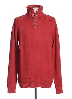 Pull col cheminée rouge LEE COOPER pour homme