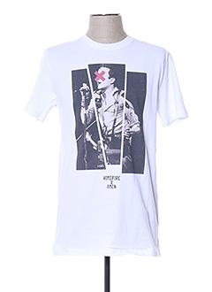 T-shirt manches courtes blanc HIMSPIRE pour homme