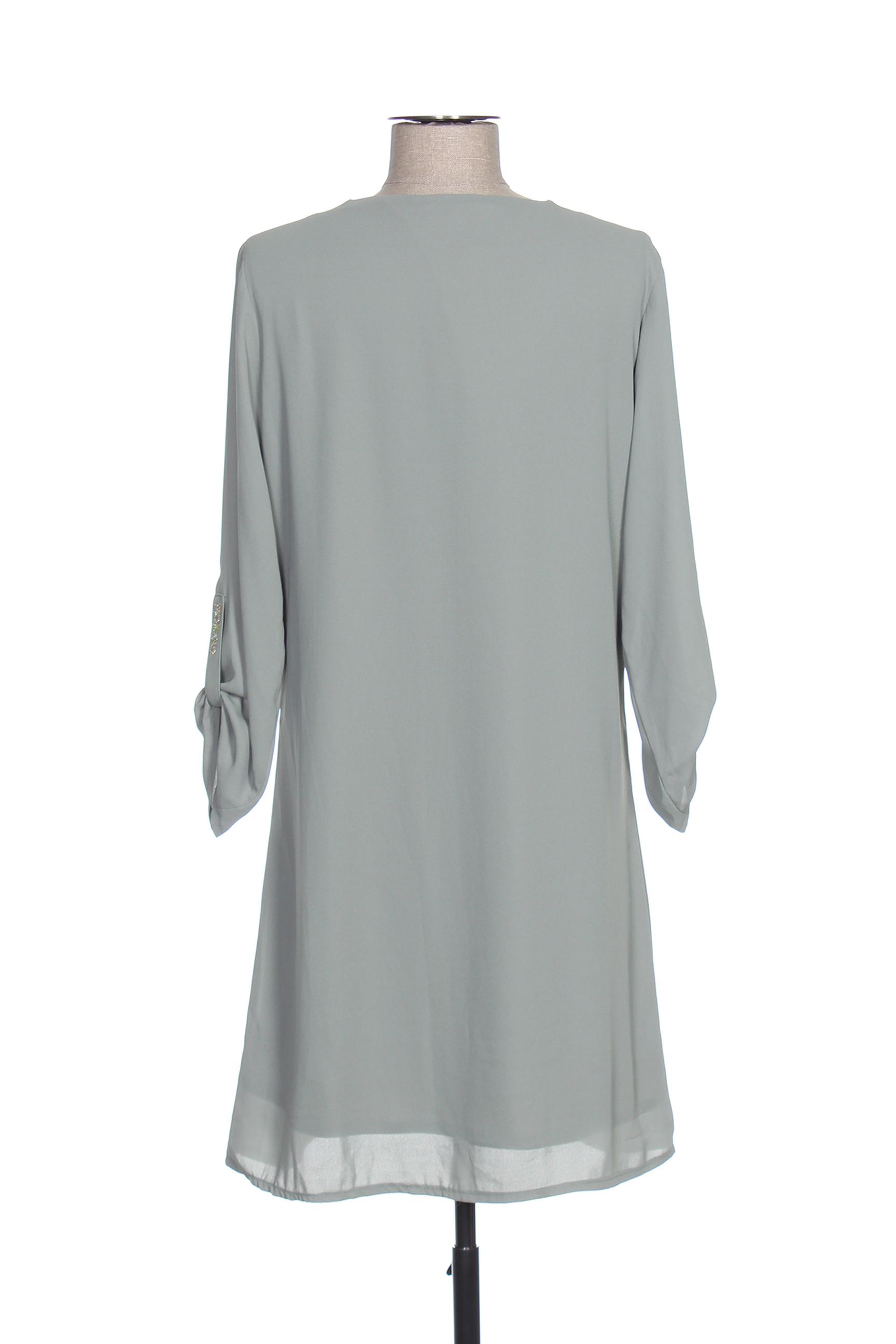 Quinze Heures Trente Robes Courtes Femme De Couleur Vert En Soldes Pas Cher 1421308-vert00