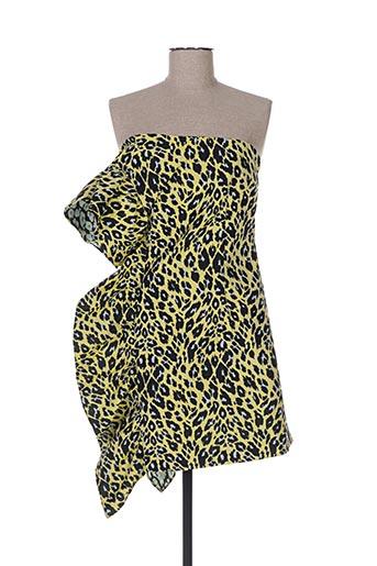 Robe courte jaune CAVALLI pour femme