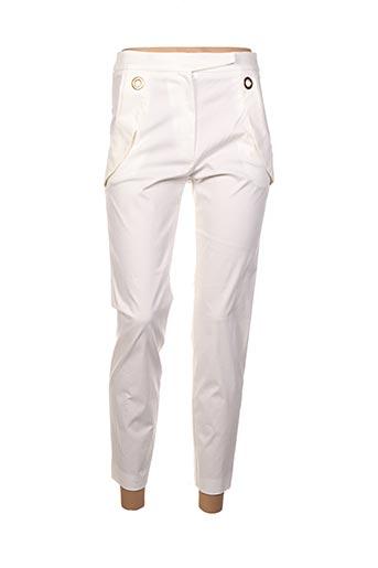 Pantalon 7/8 beige ANNA RITA N pour femme