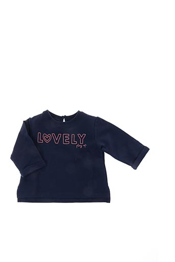 Pull col rond bleu PLAY'UP pour fille