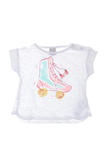 T-shirt manches courtes blanc PLAY'UP pour fille