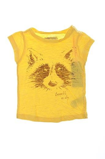 T-shirt manches courtes jaune TUMBLE'N DRY pour fille