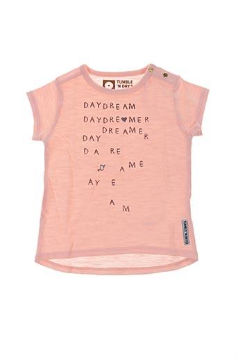 T-shirt manches courtes rose TUMBLE'N DRY pour fille