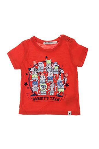 T-shirt manches courtes rouge BILLYBANDIT pour garçon