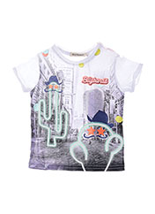T-shirt manches courtes blanc BILLYBANDIT pour enfant seconde vue