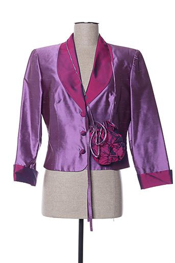 Veste chic / Blazer violet CLAIRMODEL pour femme