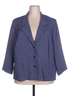 Veste chic / Blazer bleu FRANCOISE F pour femme