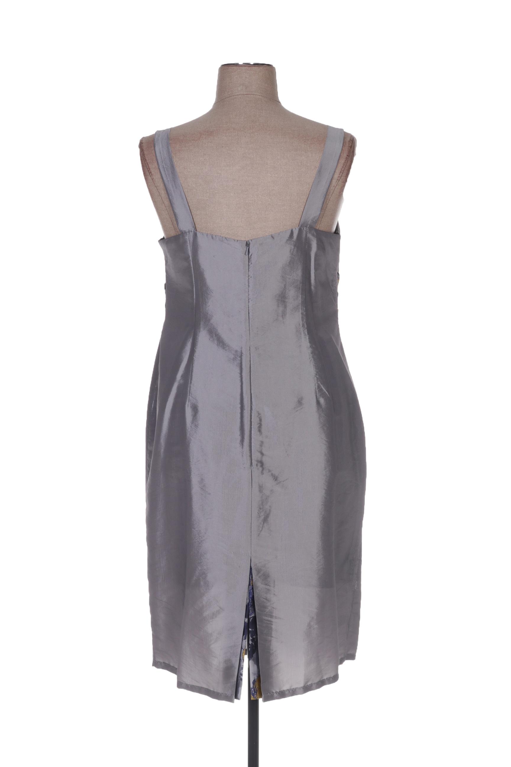 Deelle Boutique Robes Mi Longues Femme De Couleur Gris En Soldes Pas Cher 1426732-gris00