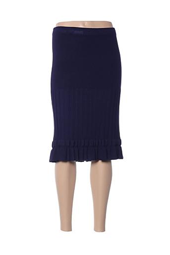 Jupe mi-longue bleu GREGE CREATION pour femme