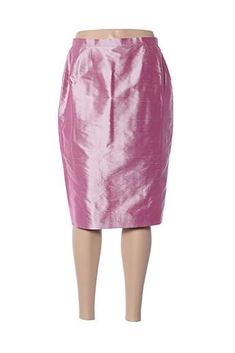 Jupe mi-longue rose CLAIRMODEL pour femme