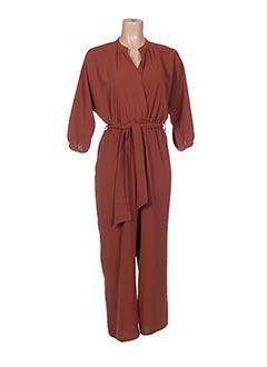 Combi-pantalon marron EMA BLUE'S pour femme