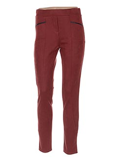 Pantalon casual orange HALOGENE pour femme