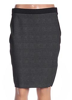 Jupe mi-longue gris DIVAS pour femme