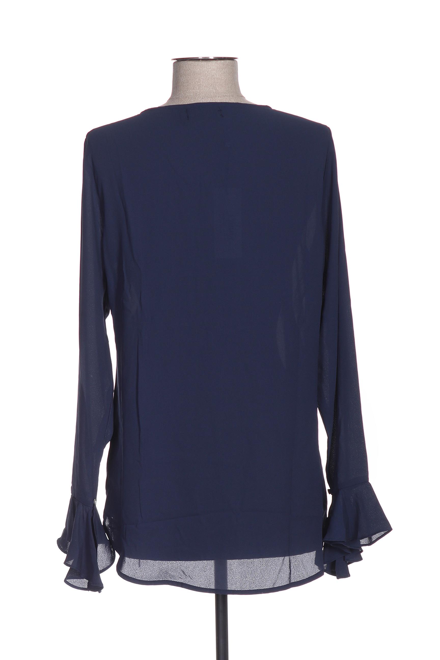 Molly Bracken Blouses Femme De Couleur Bleu En Soldes Pas Cher 1426951-bleu00