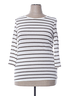 Pull col rond blanc MAE MAHE pour femme