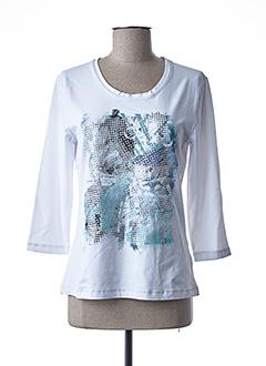 T-shirt manches longues blanc BRANDTEX pour femme