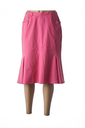 Jupe mi-longue rose FRANCOISE DE FRANCE pour femme