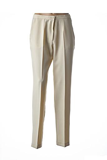 Pantalon chic beige FRANCOISE DE FRANCE pour femme