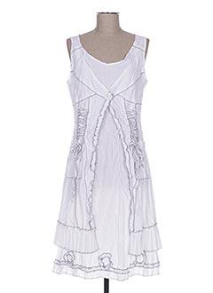 Robe mi-longue blanc FRANSTYLE pour femme