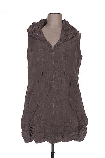 Veste casual marron FRANSTYLE pour femme