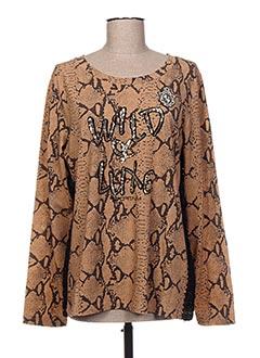 T-shirt manches longues marron SPORTALM pour femme