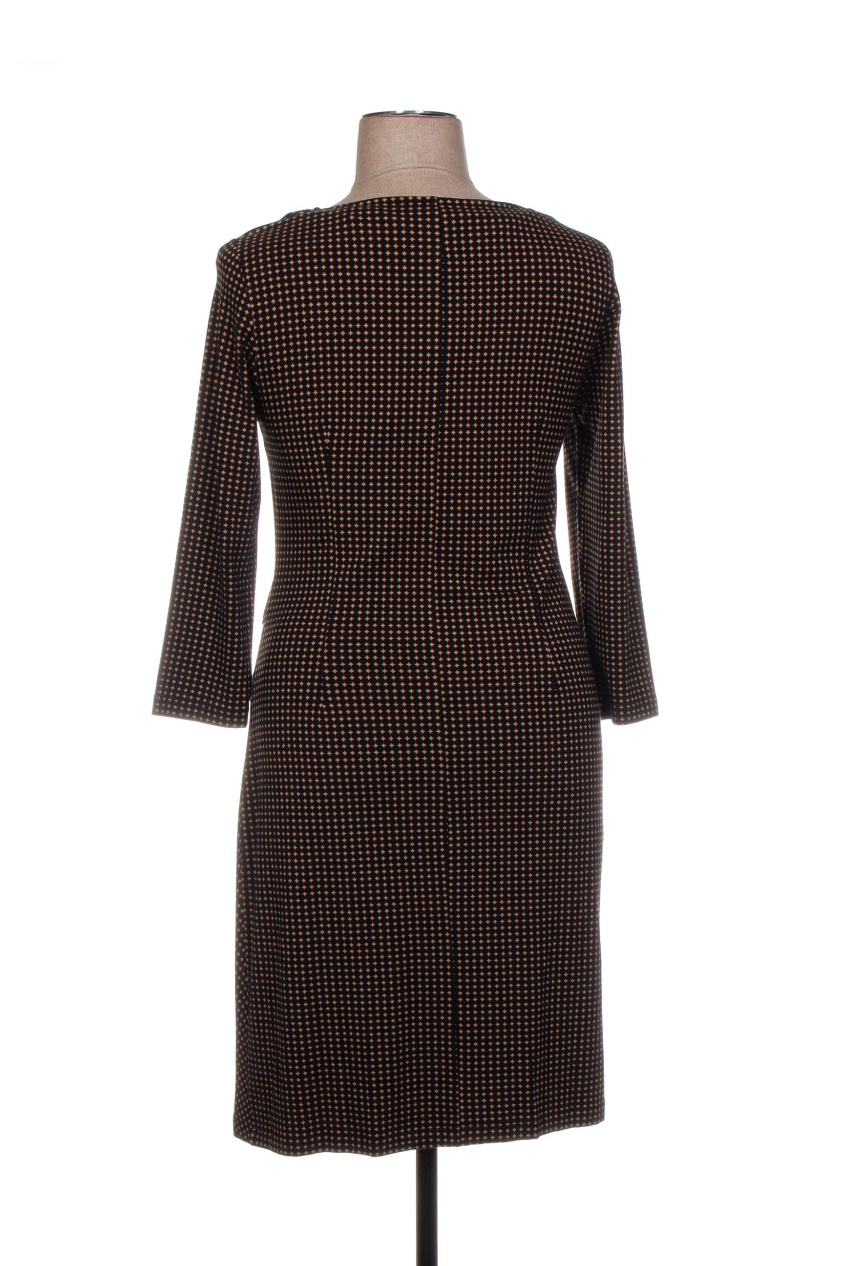 Devernois Robes Mi Longues Femme De Couleur Noir En Soldes Pas Cher 1436815-noir00