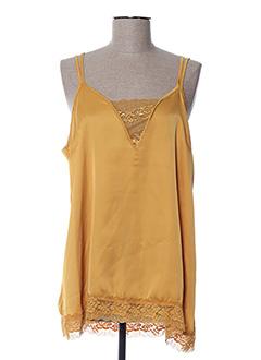 Top jaune CHANTAL.B pour femme