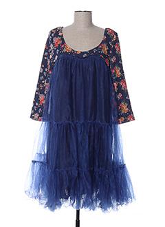 Robe mi-longue bleu ZOE LA FEE pour femme